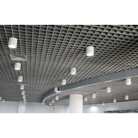 铝格栅吊顶装饰材料广州欧佰方形铝格栅供应