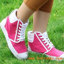 供应韩版高帮帆布鞋生产厂家