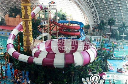 广州潮流厂家定制水上设备北京室内水上乐园设备巨兽碗水滑梯设备