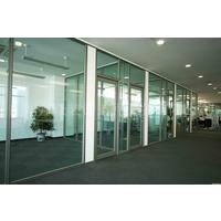 广州中空内置百叶玻璃隔断+玻璃隔断+玻璃门安装维修