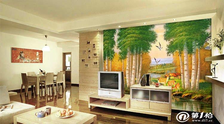 大型壁画欧式 大树壁纸电视墙/客厅/书房/沙发背景