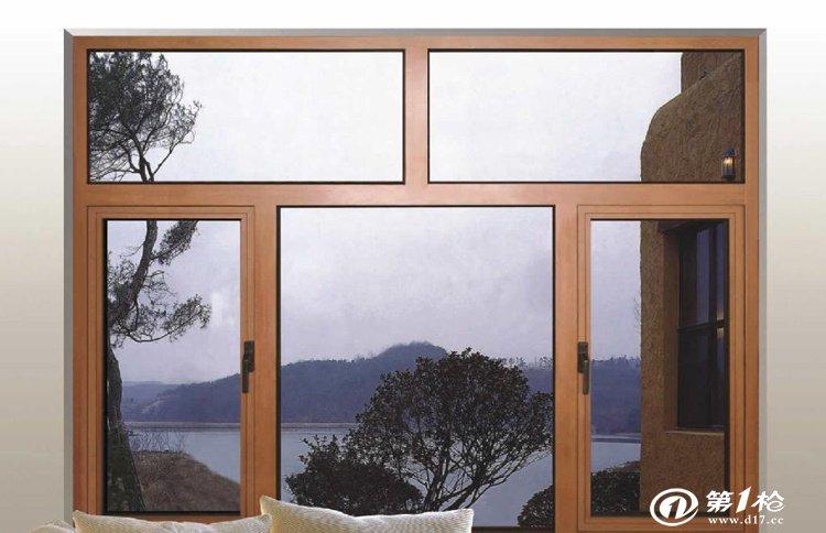 铝包木外开窗