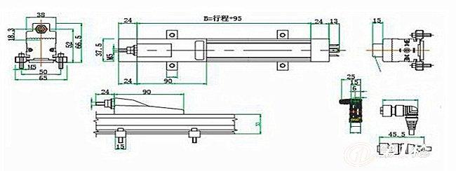 电子尺,拉绳位移传感器,磁致伸缩位移传感器,光栅位移传感器,lvdt位移