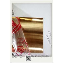杭州拉丝玫瑰金不锈钢板厂家定制 磨砂拉丝发纹玫瑰金不锈钢板