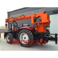 拖拉机吊车挖坑机 立杆挖坑一体机 拖拉机钻孔立杆一体机