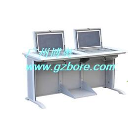 博奥BR006二位液晶屏翻转电脑桌石家庄电教室学生电脑翻转桌