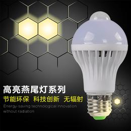 led3w声光控智能感应灯泡 楼梯走廊楼道 卫生间公共场所