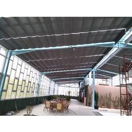 厂家直销电动双轨式折叠天棚帘