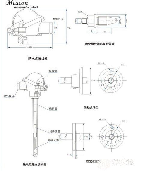 iec584iec1515gb/t16839-1997jb/t5582-91 结构组成: 接线盒,接线