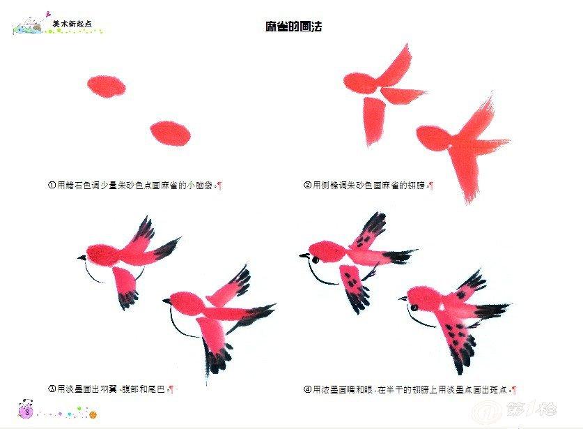 正版幼儿童美术绘画书籍 儿童国画入门教程 动物水墨画线描画起步