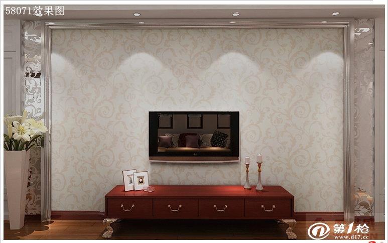 墙纸/壁纸/墙布/墙贴 欧式风格莨苕叶纹高档印花墙纸客厅卧室等背景墙