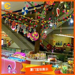 商场冬季新春玻璃钢泡沫美陈树枝树干大树DP定制