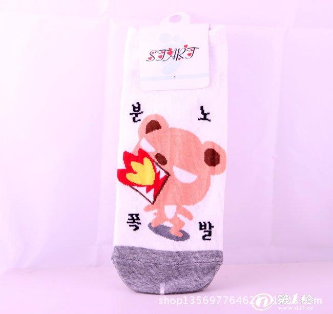 【短立体】韩国卡通少女立体袜子/直板袜/船袜/细腻