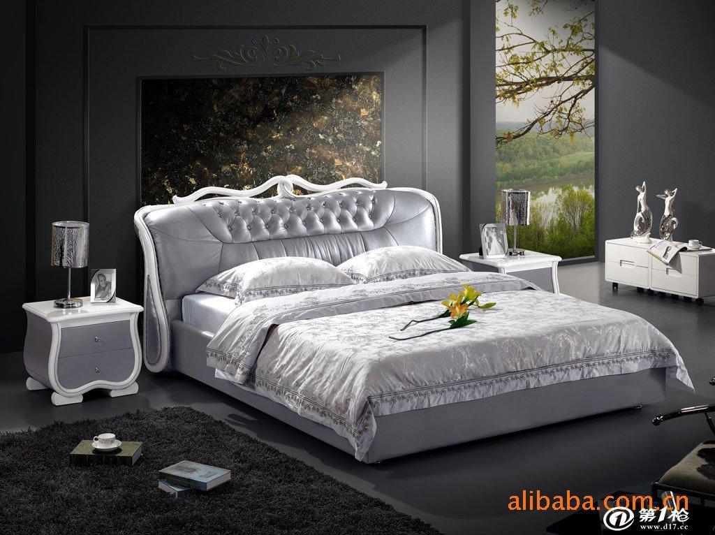 欧式软床 白色床 韩版太子床