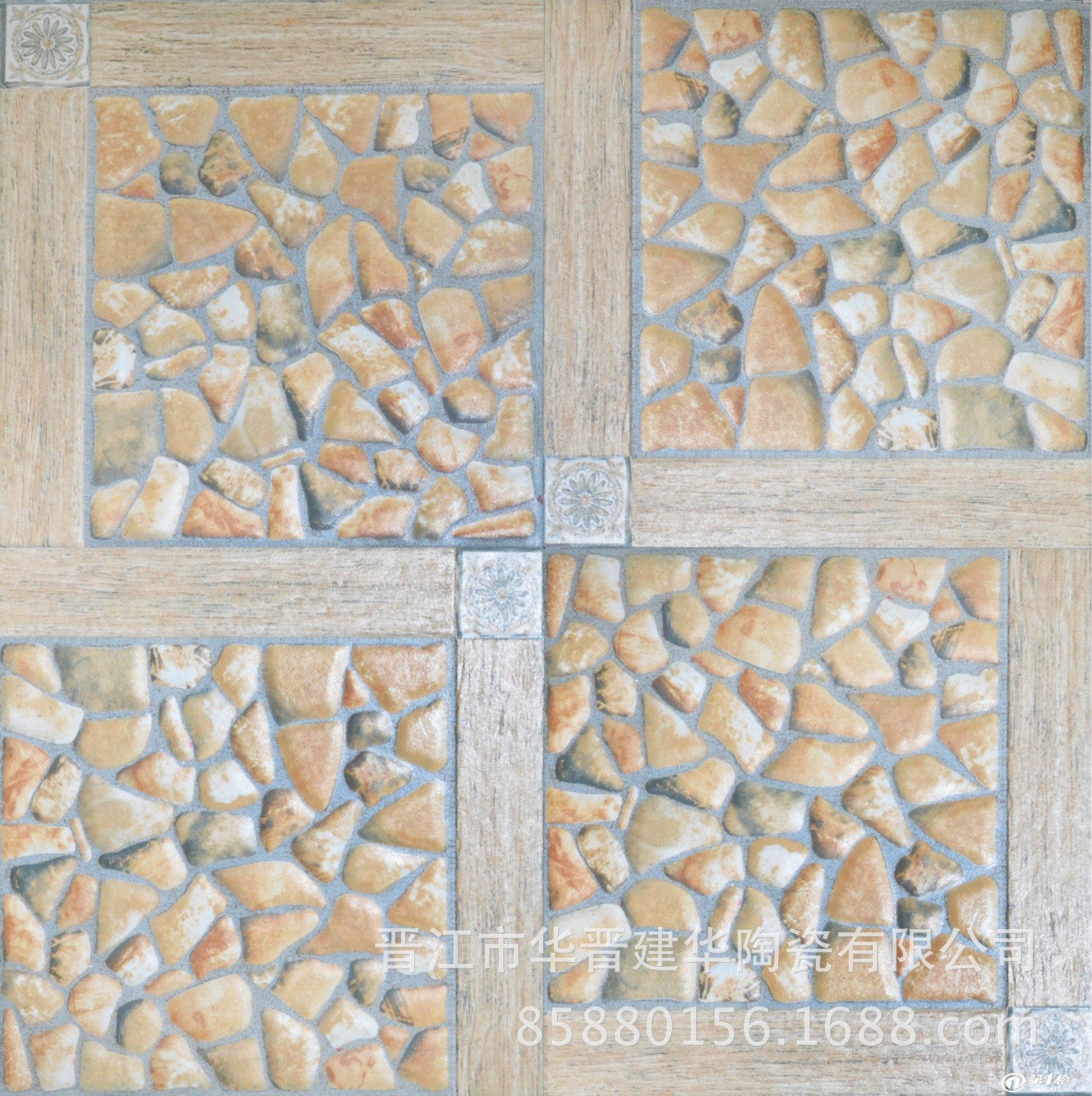 3d喷墨陶瓷地墙砖系列 300*300鹅卵石地墙砖 室内仿古拼花瓷砖