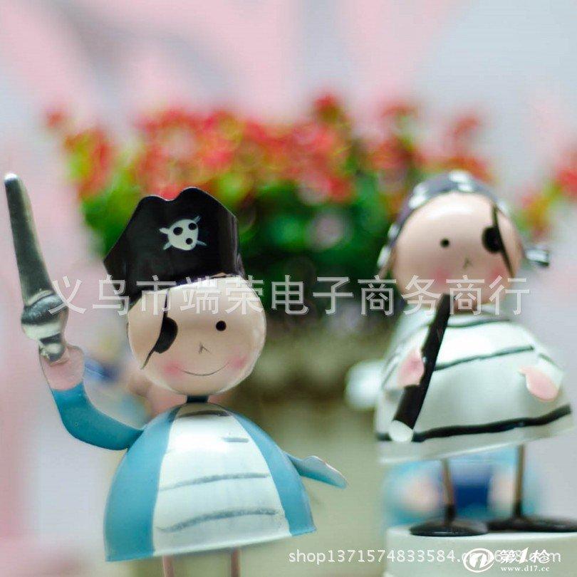 热卖铁皮娃娃 海盗娃娃 可爱小摆件 家居装饰品 精致小礼品 批发