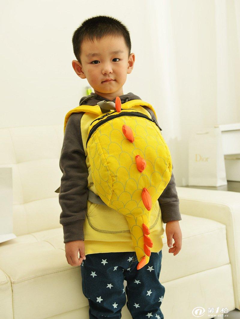 出口欧美儿童书包2013年新款小恐龙包幼儿园背包小学生个性潮包