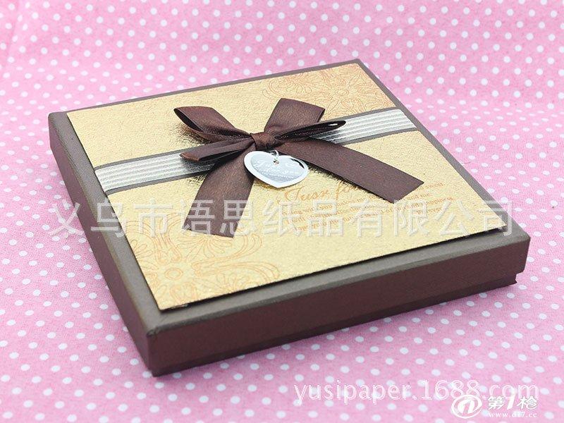 初加工材料 包装材料及容器 纸包装容器 纸盒 供应咖啡色蝴蝶结巧克力