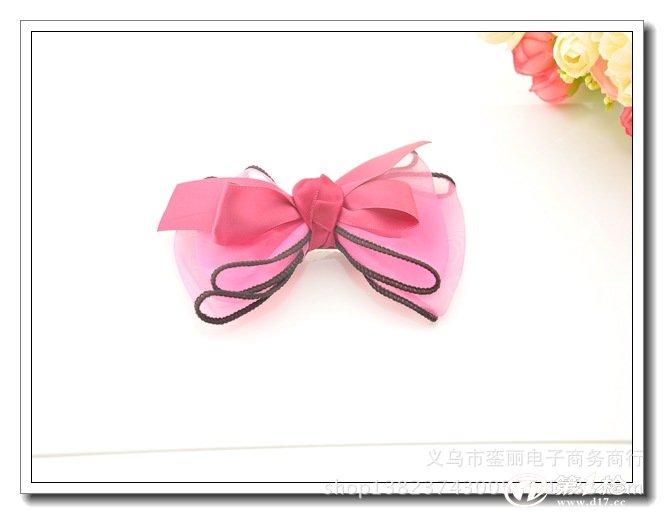 2014新款糖果色发夹 可爱蝴蝶结女士发夹 日韩饰品批发
