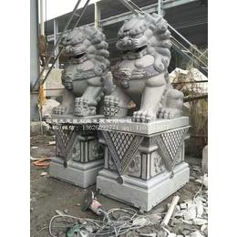 石雕狮子厂家 花岗岩石狮子多少钱 定制石雕狮子