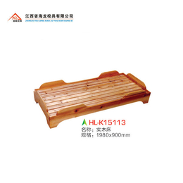 校具  实木单层床