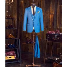 春季新品 修身蓝色西装订做 量身定制 可绣名字 个性化定制