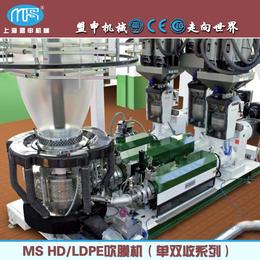 上海盟申HDPE吹膜单双收珠光膜降解膜吹膜机
