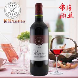 法国进口红酒aoc  拉菲珍藏波尔多干红红酒