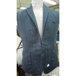 西服量身定制 蓝色纯色西服 高端西服