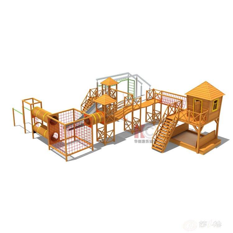 供应大型户外木质组合滑梯 儿童木制攀爬滑滑梯 幼儿园游乐设施