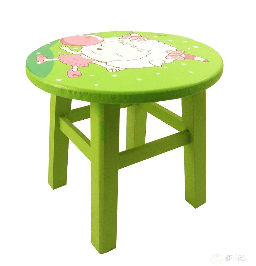 卡通儿童木凳子迷你小板凳 玩具凳 踏脚凳 带彩盒 18款混 yx729