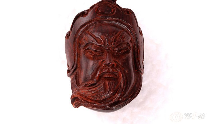 明慧佛珠 印度小叶紫檀 关公头像 挂件吊坠项链 木雕手把件 批发