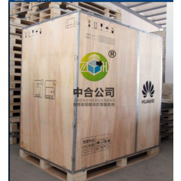 供应出口物流包装箱免检胶合板箱带卡板钢带包边木箱定做