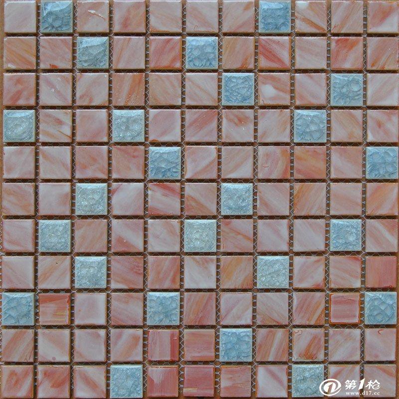 陶瓷手绘马赛克 冰裂马赛克 25*25*6mm b2515