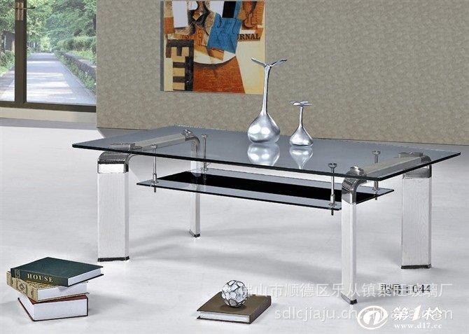 【厂家直销】铝合金脚架玻璃客厅茶几/休闲茶桌/办公桌子