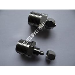304不锈钢螺帽锁母式卡套快插快拧式直通弯通三通气动气管接头