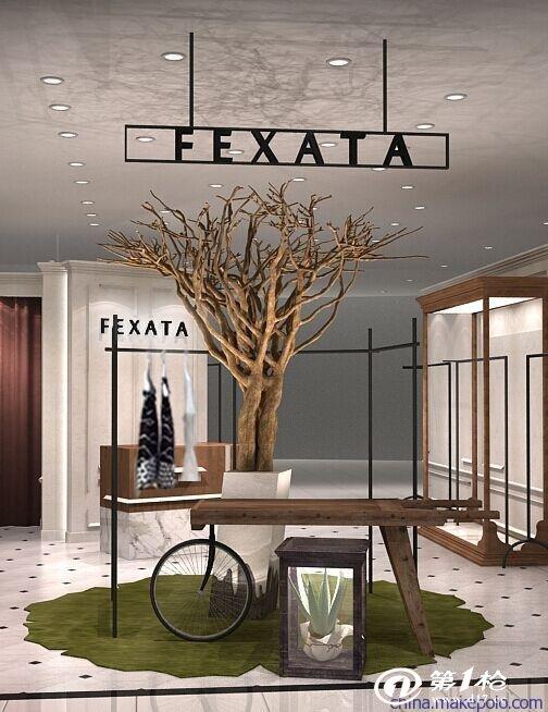 厂家直销白色艺术造型树 室内高档 展装饰假树杆(可定制)