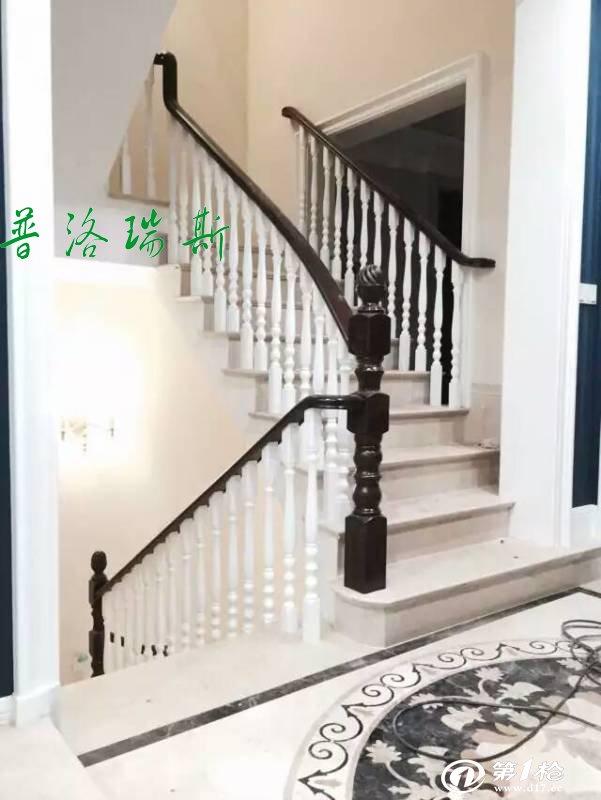 惠州实木楼梯.家庭楼梯现场安装图片