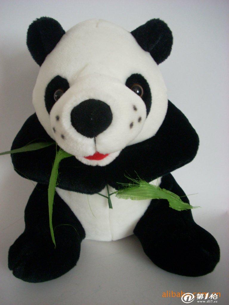 卡通熊猫 大熊猫 熊猫毛绒玩具 熊猫吃竹子