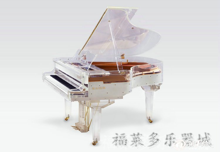 钢琴厂家批发 凯尔231仿水晶透明最独特最浪漫三角钢琴