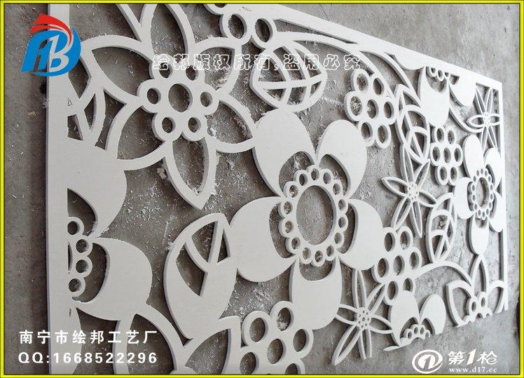 吊顶装饰材料 木质装饰板,木质扣板 厂家直销雕刻pvc板花纹 镂空雕花