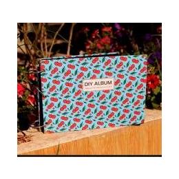 韩国文具批发 手绘系列十寸DIY相册繁花系列-蓝樱桃1559