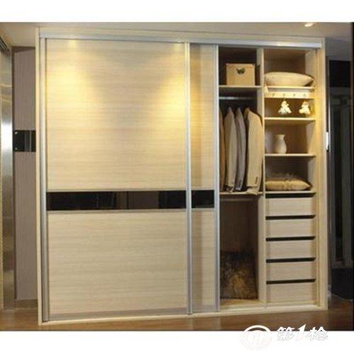 实木推拉滑动门衣柜家具