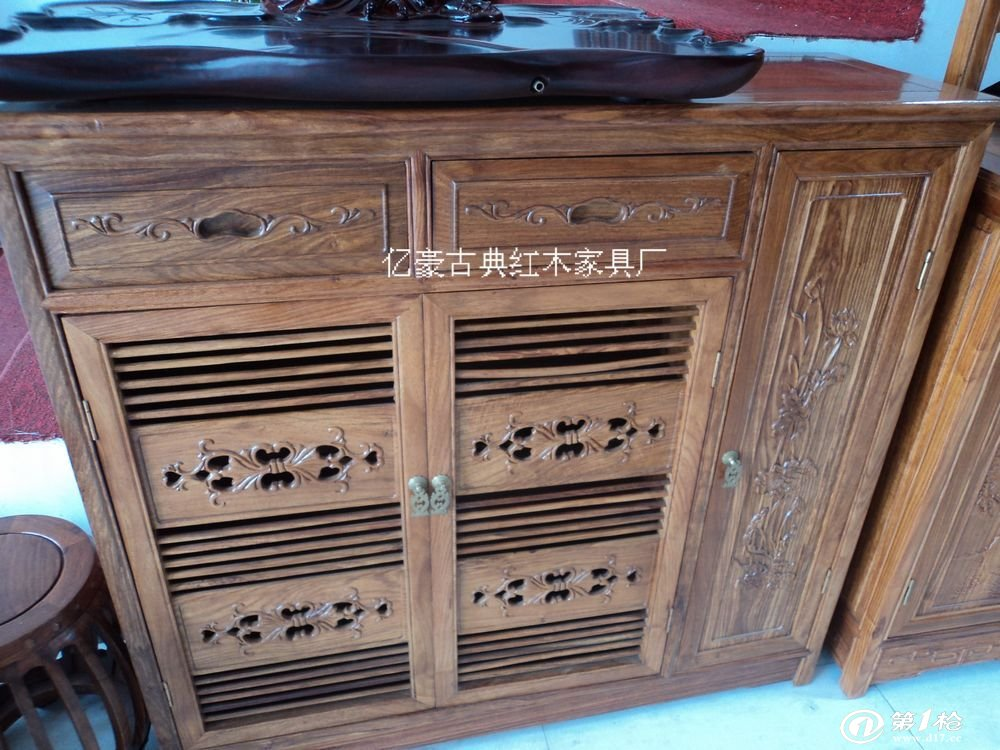 古典家具/红木家具/非洲黄花梨木鞋柜