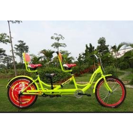 供应卡帕奇亲子三人车小孩座位可以拆卸成三人自行车