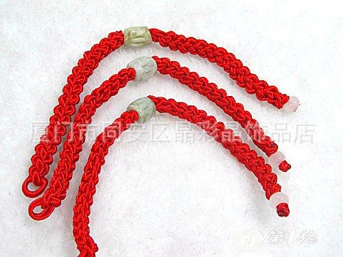纯手工编织 转运珠红绳手链 路路通红绳玉珠手链 首饰