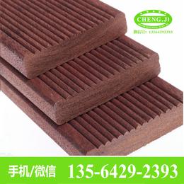 印尼菠萝格板材地板防腐木带防滑槽地板拉丝地板丞基木业厂批