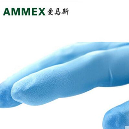 爱马斯APFGWCHD一次性加厚型蓝色丁晴手套 卫生工业手套