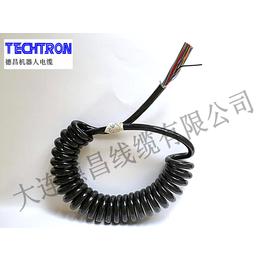德昌线缆 特种电线电缆 机器人控制线缆 耐磨弹簧线螺旋电缆