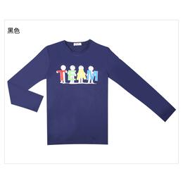 长袖t恤男夏季新款青少年时尚印花纯棉圆领男士半袖打底衫